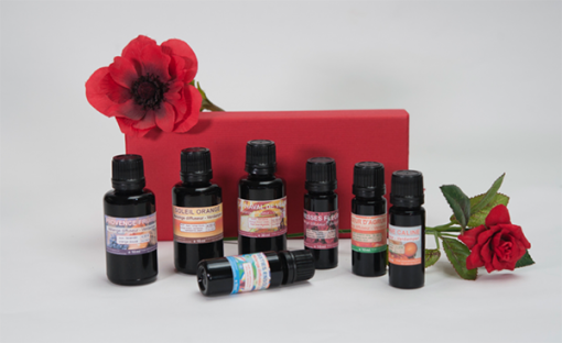 coffret melanges diffuseurs rose rouge