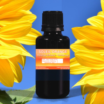 d'huiles essentielles MD : soleil orangé